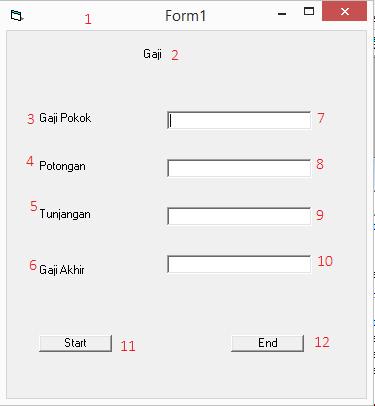 Program Sederhana Menghitung Gaji   Visual Basic ...