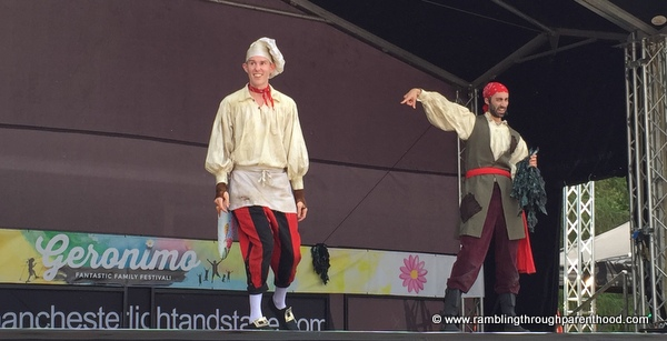 Swashbucklers performing at Geronimo