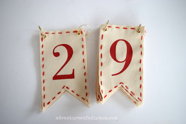 days til christmas pennants