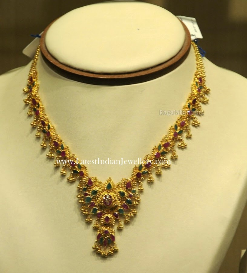 Traditional Gold Muvvala Necklace