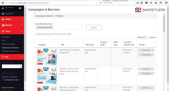 Cara Menghasilkan Uang dari Blog dengan Promosi Matahari Mall