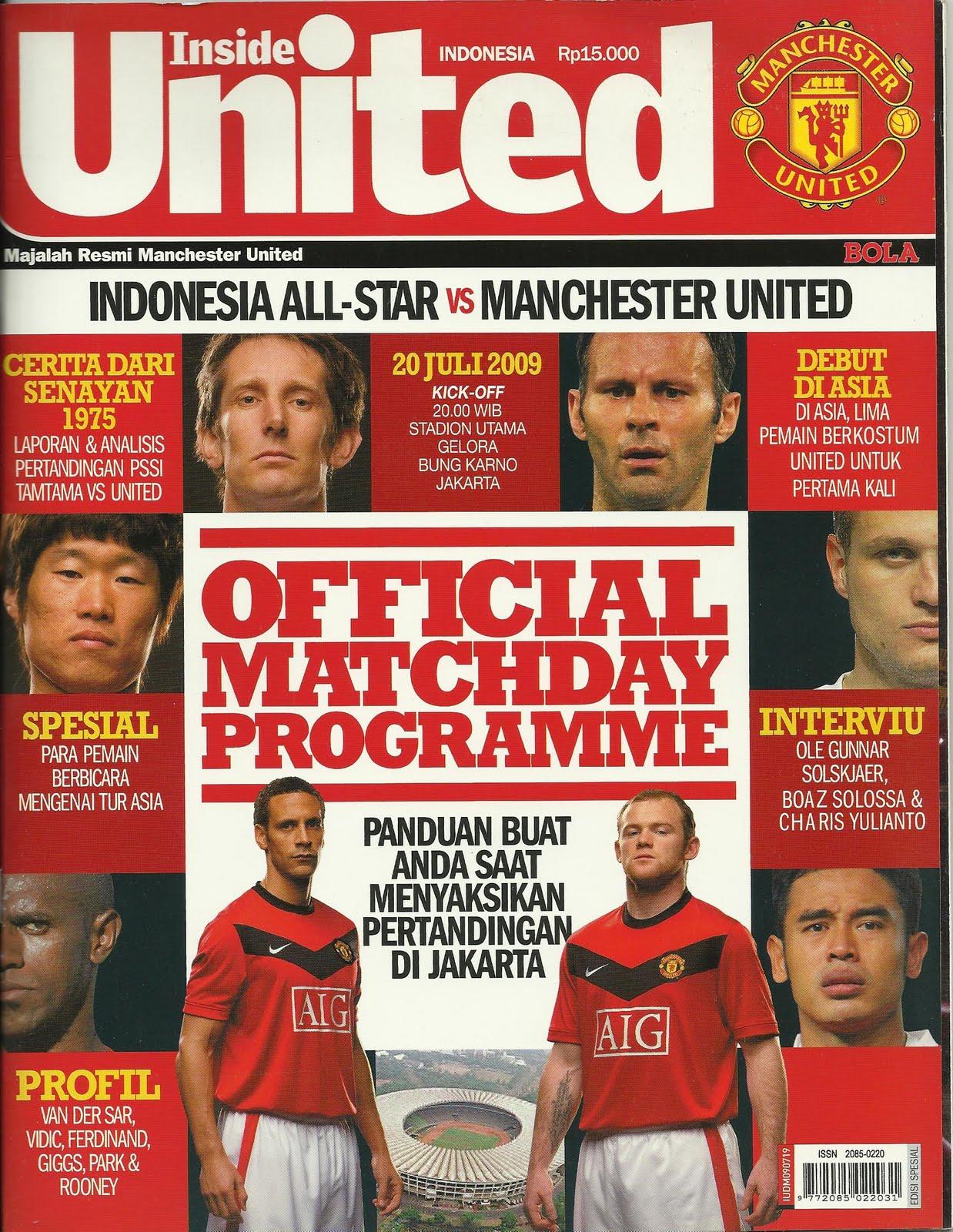 Asian Football Memorabilia Indonesia All Star V Manchester