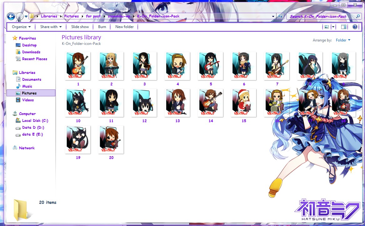 Icon pc anime untuk folder keren folder
