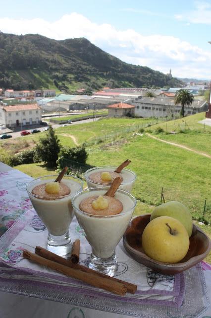 natillas de manzana