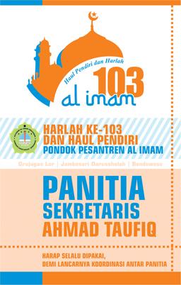 Cocard Haul dan Harlah Ponpes Al Imam Ke-103