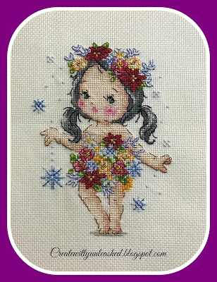 Soda Cross Stitch winter fairy Elf Garden