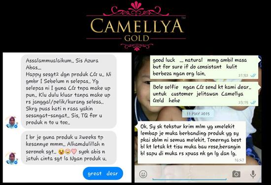 Testimoni pengguna produk Camellya Gold