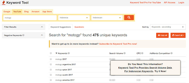 keyword, kata kunci, cara mencari kata kunci youtube, cara mencari keyword youtube, youtube
