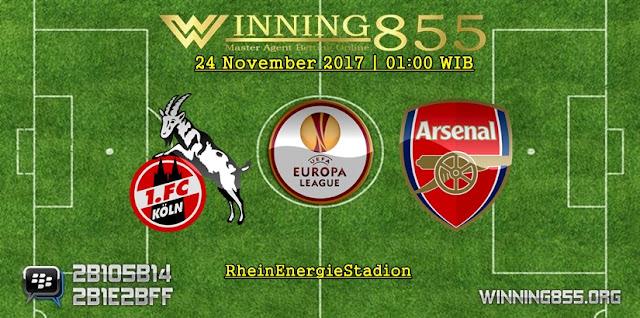 Prediksi Akurat Koln vs Arsenal 24 November 2017