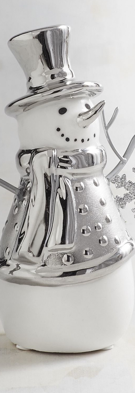 Pier One Collectible Ceramic Snowman Figurine
