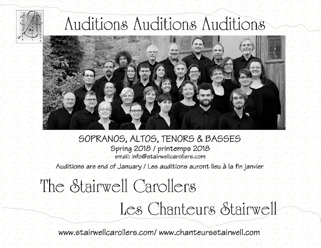 Auditions Spring 2018 Ottawa Stairwell Carollers