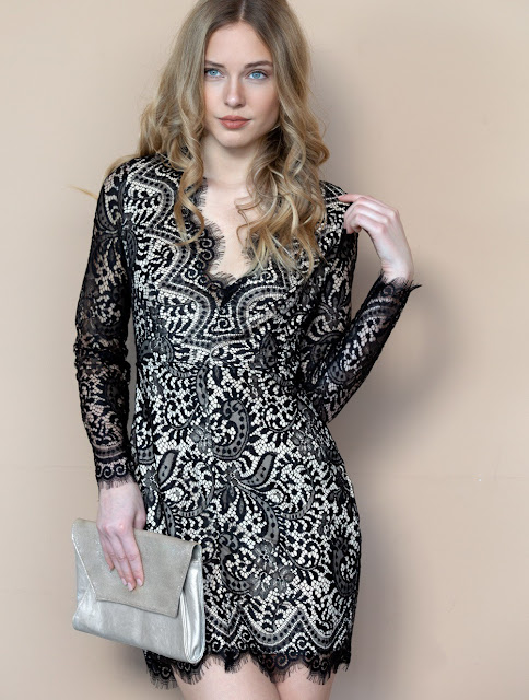 Lace Mini Dress Cheryl Black