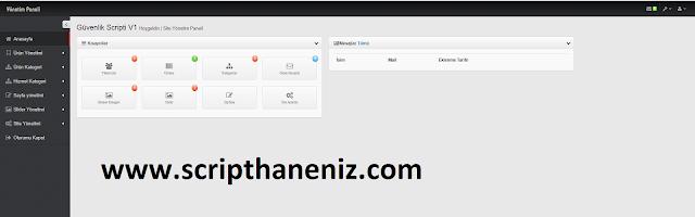 Guvenlik Sitesi Admin Sayfası