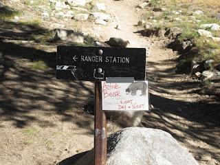 Ein wichtiger Hinweis der Ranger