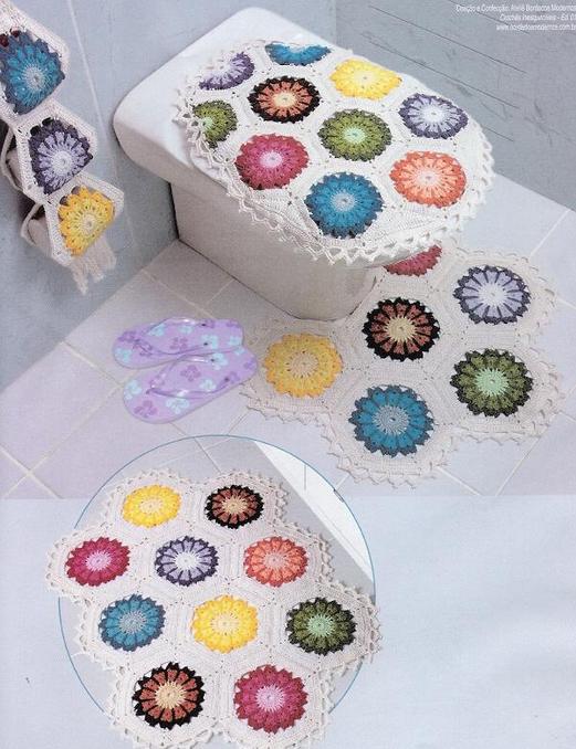 Patrones crochet for Conjunto accesorios para bano