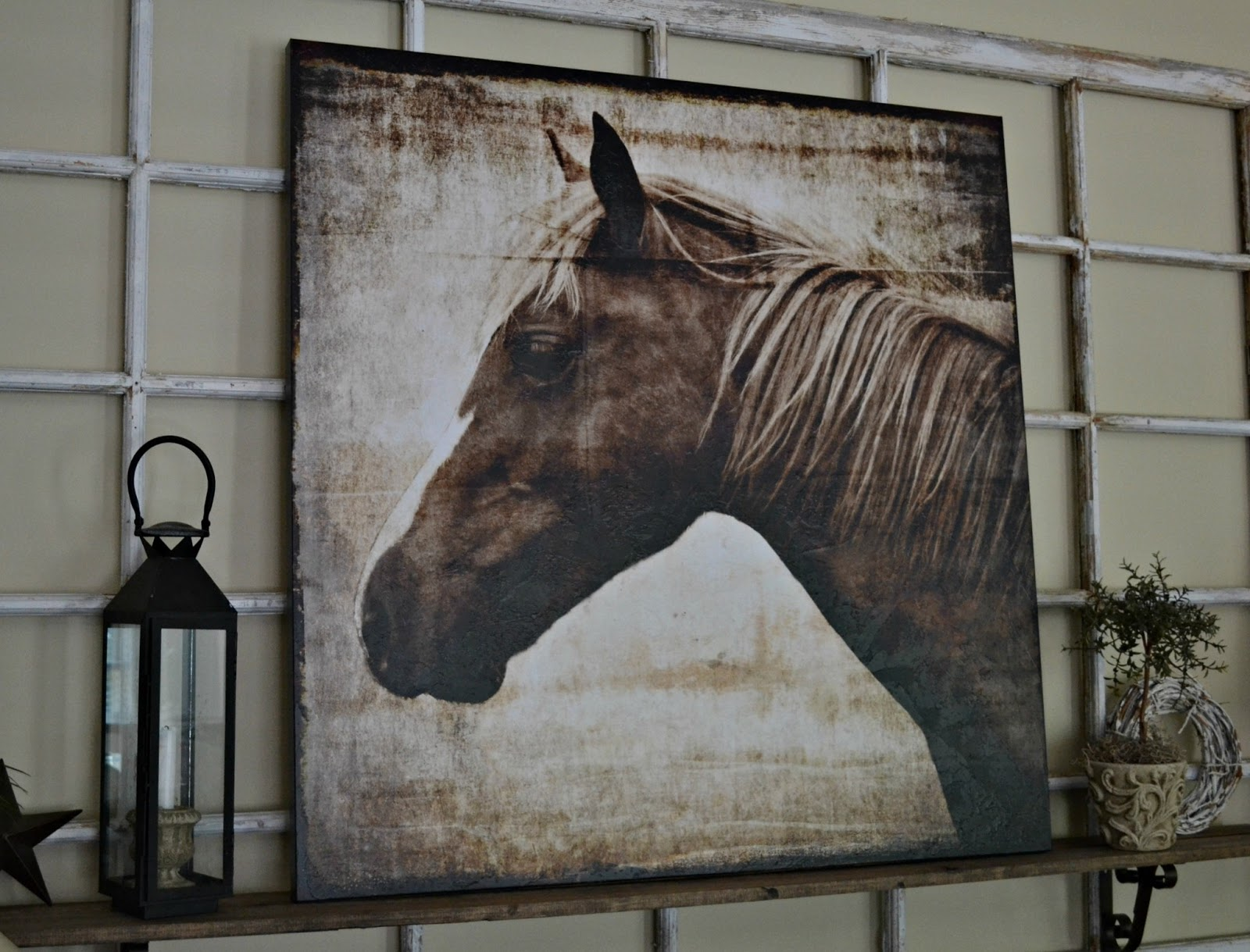 Down To Earth Style New Canvas Art A Horse