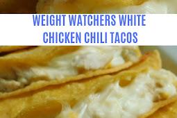 Weight Watchers White chicken chili tacos
