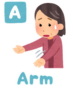 脳卒中の症状の「Arm」のイラスト