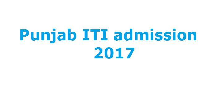 Punjab ITI admission 2017