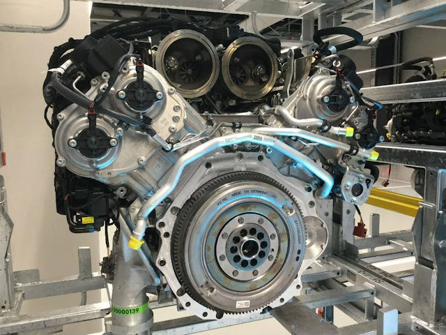 Motor V8 de 4ª geração - Porsche