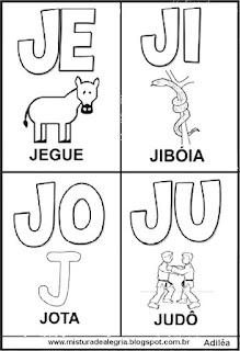 Cartaz das famílias silábicas do J