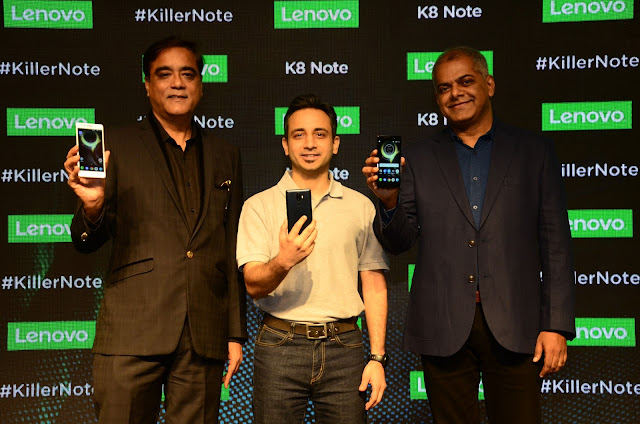 "Lenovo Launches K8 Note ""Killer Note"" With Dual Cameras, Stock Android and 10 core processor"