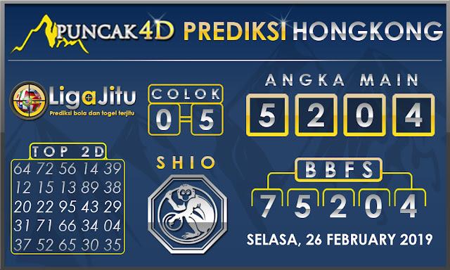 Prediksi Togel HONGKONG PUNCAK4D 26 FEBRUARY 2019