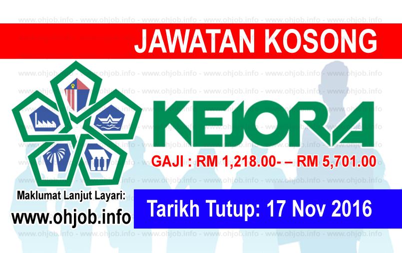 Jawatan Kerja Kosong Lembaga Kemajuan Johor Tenggara (KEJORA) logo www.ohjob.info november 2016