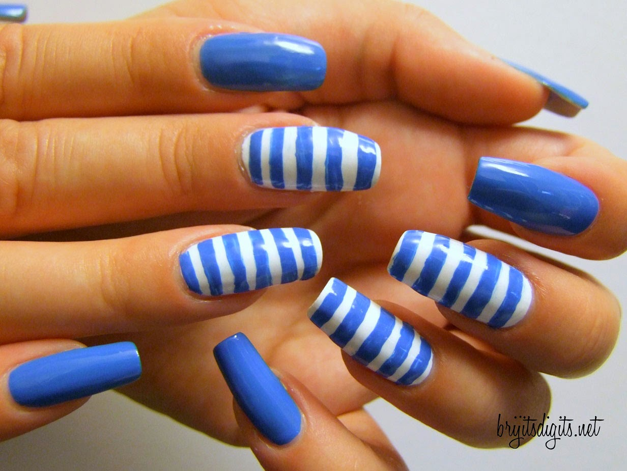 U as decoradas en color azul modelos y dise os diferentes - Modelos de unas decoradas ...