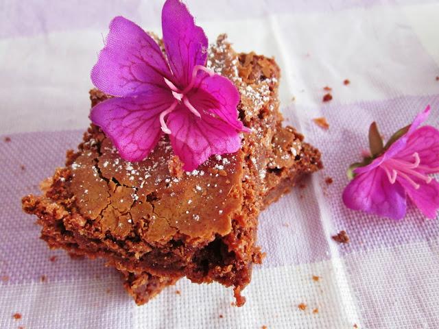 Schoko-Brownies von oben