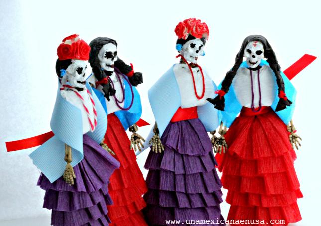 Calaveras Decoradas Con Papel Crepé Una Mexicana En Usa