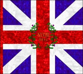 48th Regiment of Foot (Thomas Dunbar)  Kings Colour