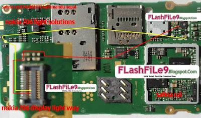 Nokia Asha 206 light jumper solution working 100% picture help all of Nokia phone major problem display light or keypad light problem. some time water damage phone after servicing showing display light problem.