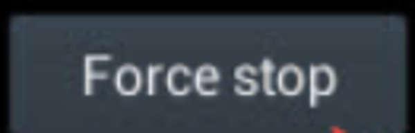 mengatasi PES sendiri dengan force stop