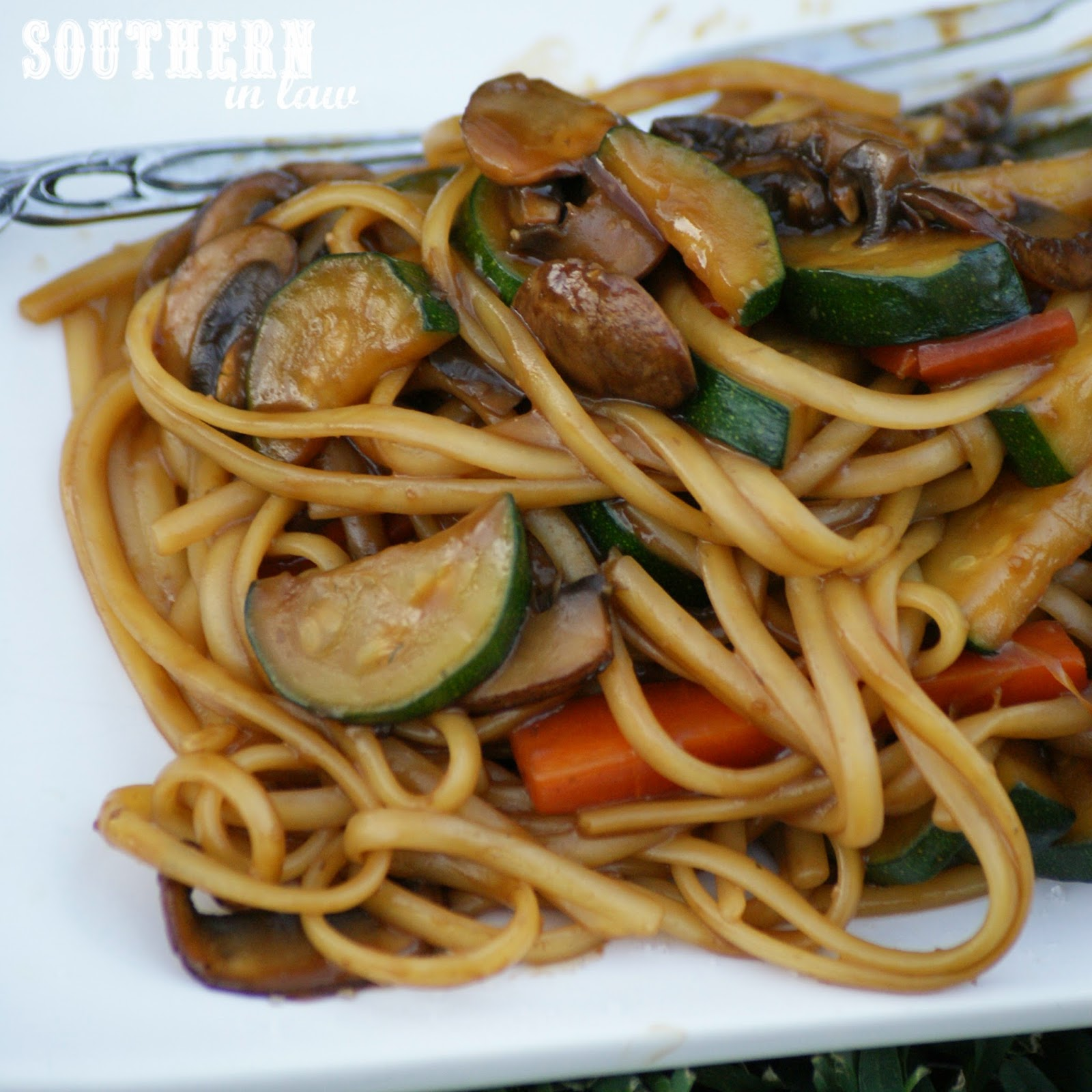 Healthy Peanut Soy Stir Fry with Vegetables