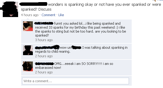 spanked_facebook_comment
