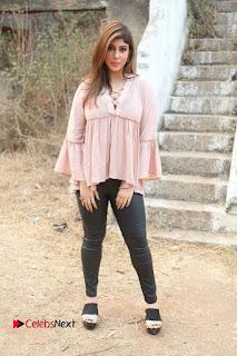 Telugu Actress Aditi Singh Stills in Leather Pants at Nenu Kidnap Iyanu Movie Press Meet  0245.JPG