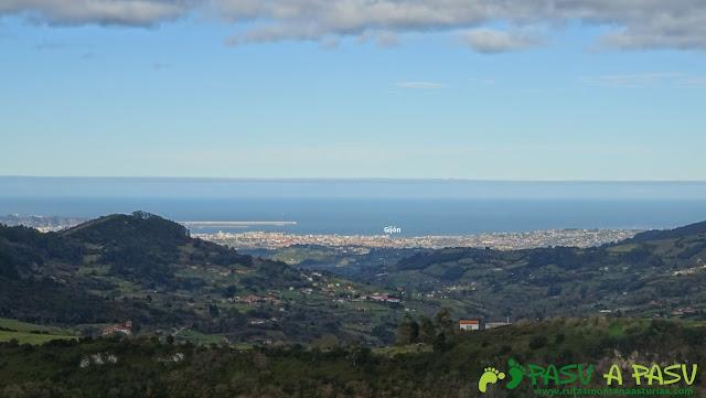 Gijón desde Peña Careses