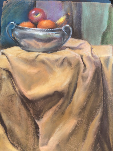 Francis J. Quirk  Pastel Still Life, Quirk Painter. Quirk Artist