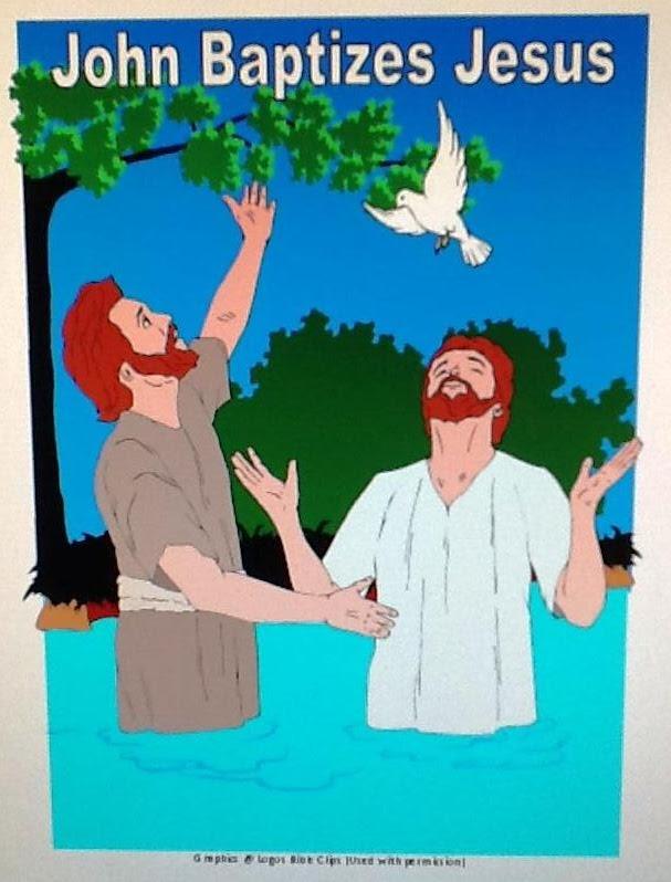 Jesus Was Baptized Bible Craft