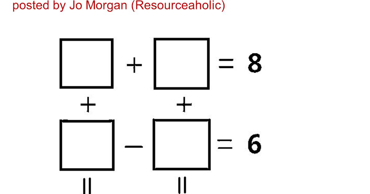 MEDIAN Don Steward mathematics teaching: puzzle square