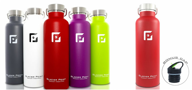 Glacier Point Vacuum Insulated Stainless Steel Water Bottle for only $16 (reg $30)