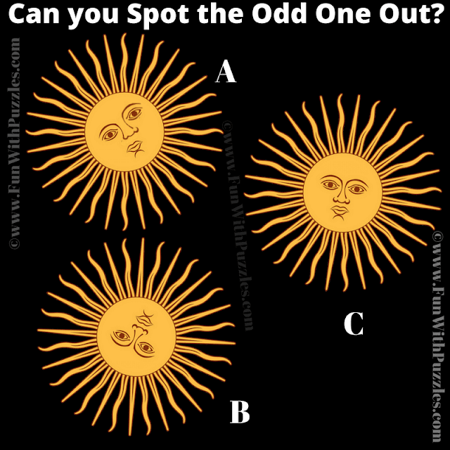 In this Picture Brain Teaser, your challenge is to find the Odd One Out among the given three puzzle images