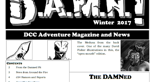 D.A.M.N. Winter 2017 Issue -- Table of Contents and Submission Guidelines