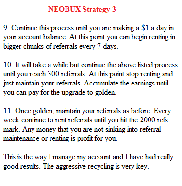 Neobux strategy 3: www.checklistmag.com