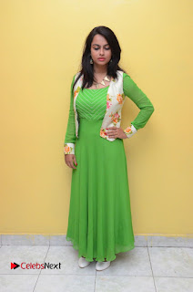 Actress Athidhi D Pictures in Green Dress at Attarillu Movie Press Meet  0079.JPG