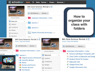 How to organize your class on schoology using folders