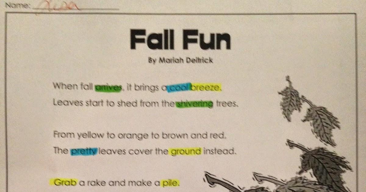 Café Speech Fall Fun- Language Plan