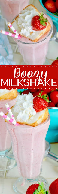 Boozy Strawberry Milkshake Recipe