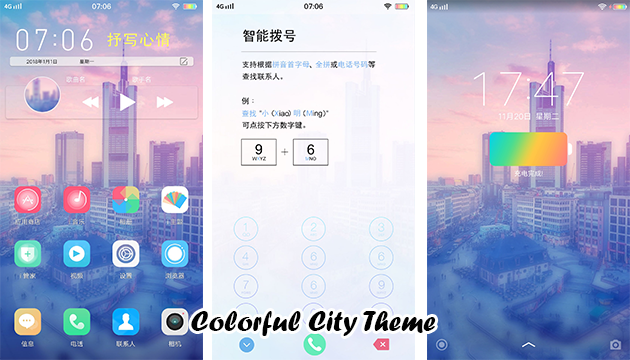 VIVO Smartphone Theme: Colorful City Theme - RQA WORLD